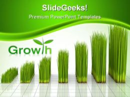 Chart Created With Green Grass Nature PowerPoint Templates And PowerPoint Backgrounds 0211