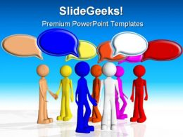 Chat Between People Business PowerPoint Background And Template 1210