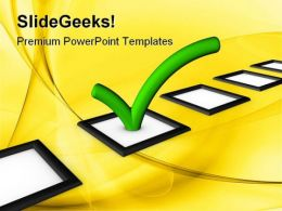 Check List Choices Business PowerPoint Templates And PowerPoint Backgrounds 0611