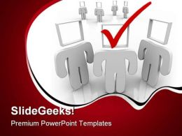Check Mark Business PowerPoint Backgrounds And Templates 1210