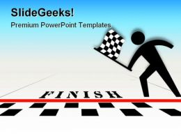 Checkered Flag Competition PowerPoint Templates And PowerPoint Backgrounds 0111