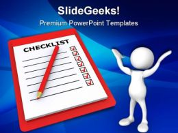 Checklist Business PowerPoint Templates And PowerPoint Backgrounds 0411