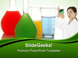 Chemical Glasswares Science PowerPoint Templates And PowerPoint Backgrounds 0511