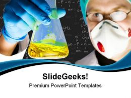 Chemist At Work Science PowerPoint Templates And PowerPoint Backgrounds 0511