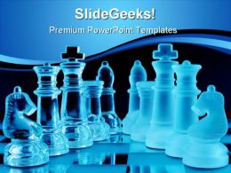 Chess01 Game PowerPoint Template 0910