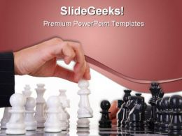 Chess Game PowerPoint Template 0910