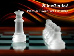 Chess Pieces Leadership PowerPoint Templates And PowerPoint Backgrounds 0211