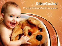 Child With A Toy Baby PowerPoint Templates And PowerPoint Backgrounds 0711