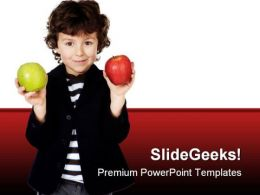 Child With Apple Food PowerPoint Templates And PowerPoint Backgrounds 0511