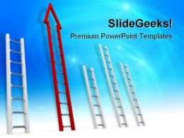 Choices Ladders Business PowerPoint Templates And PowerPoint Backgrounds 0611