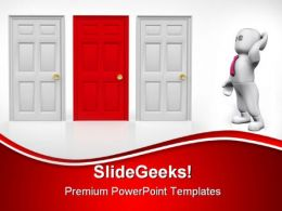 Choose The Right Door Business PowerPoint Templates And PowerPoint Backgrounds 0811