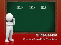 Choosing Plan Business PowerPoint Templates And PowerPoint Backgrounds 0511