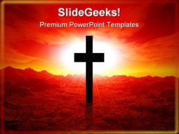 Christ Worship Religion PowerPoint Template 0610