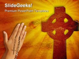 Christian Cross Religion PowerPoint Templates And PowerPoint Backgrounds 0211