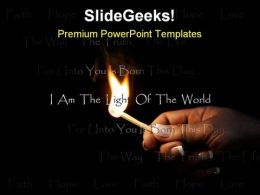 Christian Flame Religion PowerPoint Template 0810