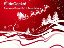 Christmas Abstract Beauty PowerPoint Template 1010