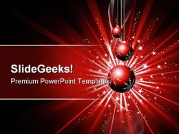 Christmas Balls Background PowerPoint Template 1010