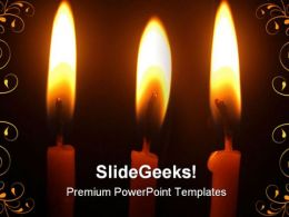 Christmas Candles Holidays PowerPoint Template 1010