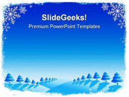 Christmas Card Holidays PowerPoint Template 1010