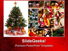 Christmas Celebration Festival PowerPoint Templates And PowerPoint Backgrounds 0211