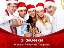 Christmas Celebration People PowerPoint Backgrounds And Templates 0111