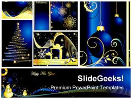 Christmas Collage Festival PowerPoint Backgrounds And Templates 0111