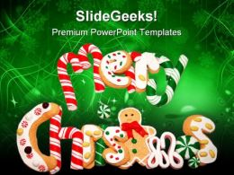 Christmas Cookies Festival PowerPoint Templates And PowerPoint Backgrounds 0711