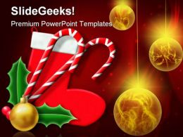 Christmas Decoration Festival PowerPoint Backgrounds And Templates 1210