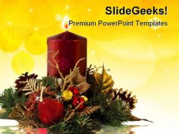 Christmas Decoration Festival PowerPoint Templates And PowerPoint Backgrounds 0411