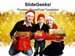 Christmas Family PowerPoint Background And Template 1210