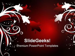 Christmas Floral Abstract PowerPoint Templates And PowerPoint Backgrounds 0511