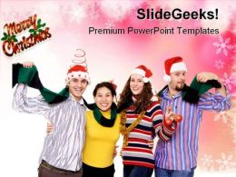 Christmas Fun Festival PowerPoint Templates And PowerPoint Backgrounds 0711