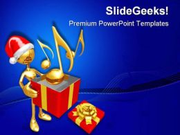 Christmas Gift Music PowerPoint Templates And PowerPoint Backgrounds 0711
