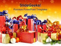 Christmas Gifts Festival PowerPoint Backgrounds And Templates 0111