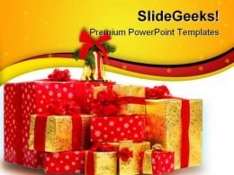 Christmas Gifts Festival PowerPoint Templates And PowerPoint Backgrounds 0311
