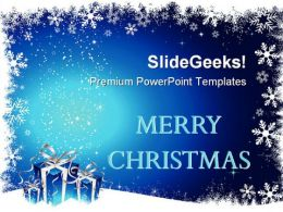 Christmas Gifts Holidays PowerPoint Template 1010