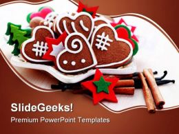 Christmas Gingerbreads Festival PowerPoint Templates And PowerPoint Backgrounds 0211