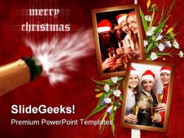 Christmas Holidays Celebration PowerPoint Template 1010  Presentation Themes and Graphics Slide01