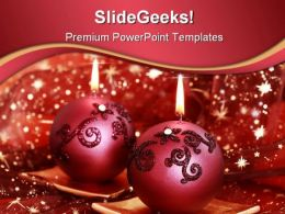 Christmas Lights Festival PowerPoint Templates And PowerPoint Backgrounds 0511
