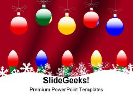 Christmas Ornaments Snowflake Festival PowerPoint Templates And PowerPoint Backgrounds 0511
