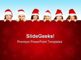 Christmas People Festival PowerPoint Templates And PowerPoint Backgrounds 0311