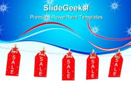 Christmas Shopping Sales PowerPoint Templates And PowerPoint Backgrounds 0711