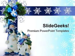 Christmas Snowman Festival PowerPoint Templates And PowerPoint Backgrounds 0711