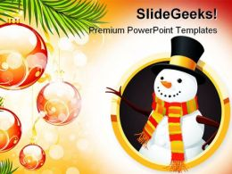 Christmas Snowman Festival PowerPoint Templates And PowerPoint Backgrounds 0811