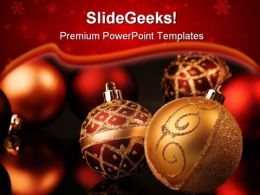 Christmas Spheres Festival PowerPoint Templates And PowerPoint Backgrounds 0511