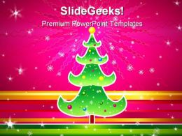 Christmas Tree Abstract PowerPoint Background And Template 1210