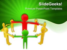 Circle Team Leadership PowerPoint Templates And PowerPoint Backgrounds 0611