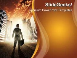 City Of Opportunity Business PowerPoint Template 1010
