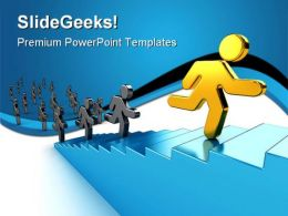 Climb Success PowerPoint Templates And PowerPoint Backgrounds 0511