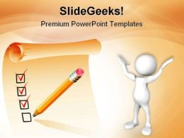 Clipboard List Business PowerPoint Templates And PowerPoint Backgrounds 0611